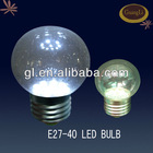 OEM support 0.5w decoration e27 round clear led bulb glass