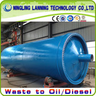Updated design used tyre/rubber/plastic recycling into crude oil equipment