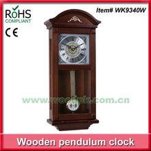 Woodpecker wooden antique style pendulum wall clock