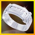 brillante cz diamante como la comodidad y ajuste de rodio plateado 925 anillo de plata