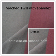 98%c 2%sp cotton stretch twill fabric dyed for garments