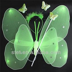 Plastic Butterfly Wings Green Butterfly Fairy Wings
