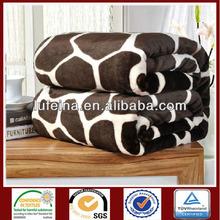 fashion printed fleece brushed blanket