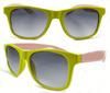 Promotional plastic neon yellow sunglasses