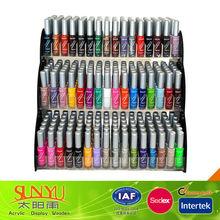 Durable de acrílico uñas esmalte de uñas esmalte de exhibición del esmalte venta al por mayor