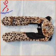 Fuzzy Faux Fur Animal Leopard Kids Children Winter Hats