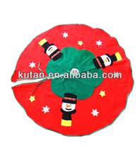 Snowman Santa Christmas Tree Skirt / Christmas Tree Decoration / Christmas Ornaments