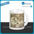 Sh665 mapa do mundo antigo c 1680 por Frederick de sagacidade caneca de café