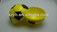 colorful football shaped melamie bowl