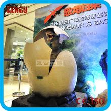 Dinosaur theme park artificial growing dinosaur egg