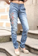 F70154R Women's jeans embroidered jeans of new fund of 2012 autumn winters is the plum flower pattern