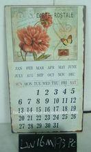 antique butterfly rose calendar design christmas decoration