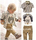 New Arrival Casual style kids clothing boy\s set wholesale available