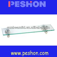 Floating Glasses Display Shelf, Bath Glass Shelf Clips