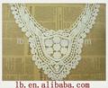 2013 popular moda quente design colorido decorativo laço roupas de design pescoço crochet algodão design colarinho bordado do laço