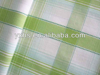 Yarn Dyed Plaid Cotton Polyester Oxford Fabric