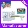 Automatic plastic stand up bag with spout filling machine