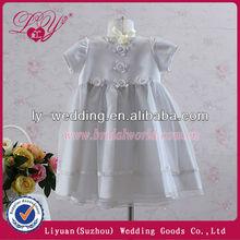 2014 New Arrival White Color Short Sleeves Flower Girl Dresses