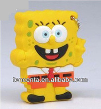 Hot sales!New gift cartoon sponge bob shape usb 2.0 memory flash pen drive