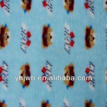 Short Pile Fashionable Cartoon Print Fleece Fabric