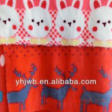 Short Pile Hot Sell Cartoon Print Fleece Fabric