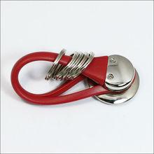 soft rubber Red PVC keyring