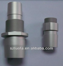 sand blasted clear anodize threaded cnc turning aluminum