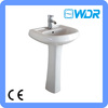 made in china sanitary ware floor standing wash basin W7001