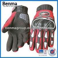 Red Motorcycle Gloves ,Motorbike Genuine Full Finger Gloves, waterproof Racing Gloves Hot Sell!