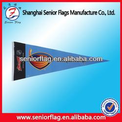 custom flet triangle pennant flags, mini soccer pennant flag