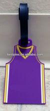 silicon luggage tag, silicone luggage ID tag, polo shirt luggage tag for basketball