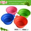 Reusable Food Grade Silicone Folding Dog Bowl, Super Travel Dog Bowl