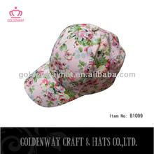 custom design high printing flower fashion women baseball caps and hats