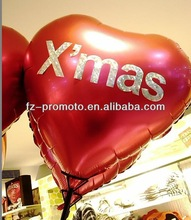 Factory wholesale cheap 18inch heart shape multi-pattern aluminium foil balloons for sale 2012