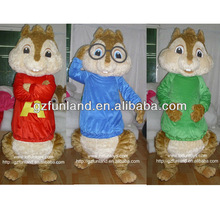 Alvin and the Chipmunks Character Costume in Adult Size/Chipmunks Costume Wear by Adult