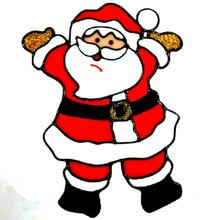 Santa Claus Pattern Window Stickers Christmas Tree Decoration
