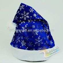 Promotional christmas hats blue santa hats