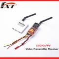 De largo alcance 5.8 1000mw ghz de audio y vídeo transmisor inalámbrico de rf receptor kit para traxxas e- revo