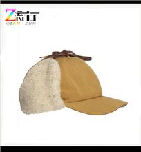 Faux Fur EarFlap Cotton Twill Trapper Aviator Hat
