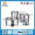 L'arrivée de nouveaux 2013 casseroles en acier inoxydable, batterie de cuisine italienne