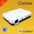 Pequeño proyector hdmi y usb, con el apoyo 3d 1080p led proyector concox shot1 q
