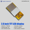 "Digital 2.8"" Color LCD module manufacturer for security system with QVGA-TF28018A"