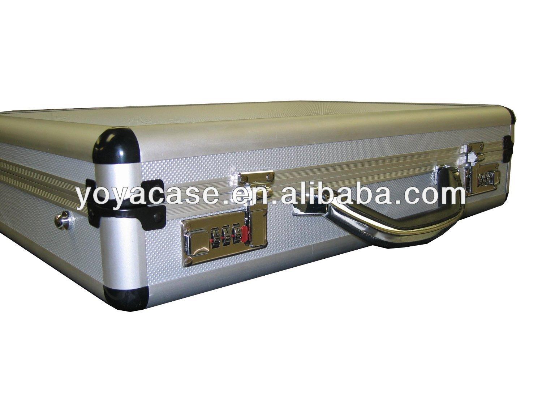Aluminum laptop case with interior storage folder