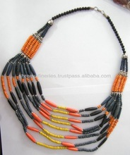 Hot Women Multilayer beads Fashion Resin Necklace