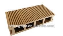 Waterproof patio WPC outdoor hardwood fiber and plastic flooring HLH-006 150*34MM CE,ISO certificate SGS report