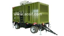 Aosif movable 200kva diesel generator set ,green movable generator