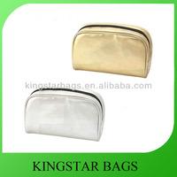 Promotion plain decorative PU cosmetic pouch