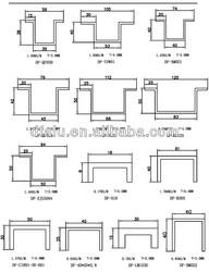 aluminum strengthening rib for curtain wall panel