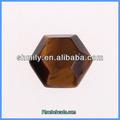 Venta al por mayor de moda forma hexagonal de ojo de tigre piedras preciosas semi preciosas gc-t014 cabujones