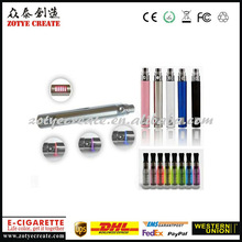 Factory price! ego v electronic cigarette with 510 tread & voltage display LCD